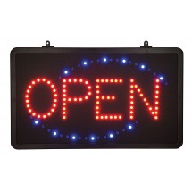 Winco LED-6 LED Open Sign with Single Flashing Pattern