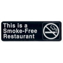 Winco SGN-316 SMOKE FREE RESTAURANT Information Sign