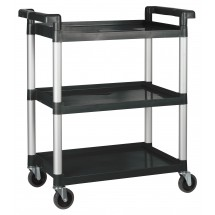 Winco UC-35K 3 Tier Black Utility Cart