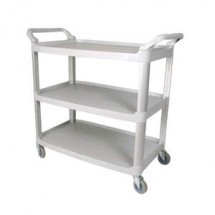 Winco UC-40G 3 Tier Gray  Utility Cart