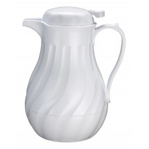 Winco VSW-42W 42 oz. White Beverage Server