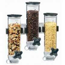 Zevro WM300 Smartspace 13 oz. Triple Wall Mount Dry Food Dispenser